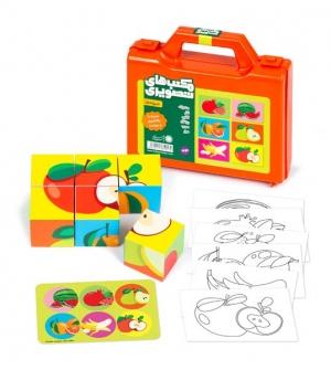 مکعبهای تصویری - میوهها
